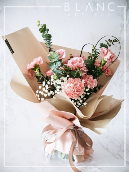 💐TUESDAY – MOTHER'S DAY PINK CARNATION BOUQUET DELIVERY