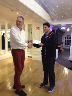 Vinayak Receiving his grading prize