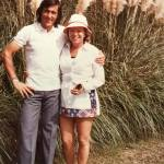 Blanche with Ilie Nastase after playing tennis