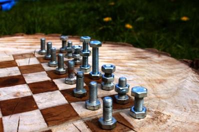 Chessboard Bolt Pieces