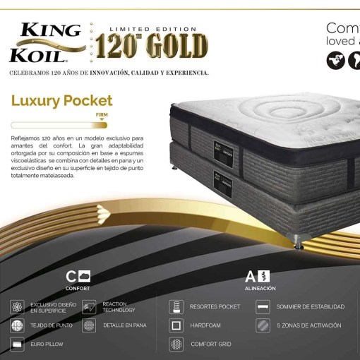 Colchon y sommier King Koil Luxury Pocket