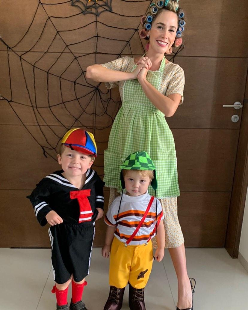 Silvia Buenrostro & sus hijos Josemaría y Miguel