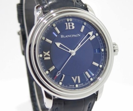2100 white gold blue dial