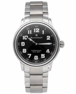 2100 steel military dial on bracelet