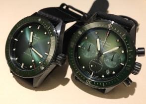 Bathyscaphe Mokarran & Chronographe Ceramic green