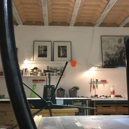 estampe, gravure, etching, paysage urbain, aquitaine, eau forte, carborundum, estampe contemporaine, blandine galtier ©