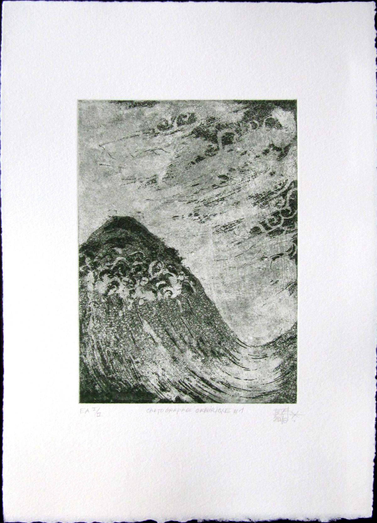 cartographie onirique 1, blandine galtier, gravures, estampes, non-toxic