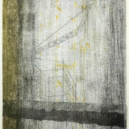 piet&marjan 6, labastide, monoprint, carborundum, pointe sèche, chine-collé, monotype sur papier wenzhou 30g ou de gravure 160g, blandine galtier ©