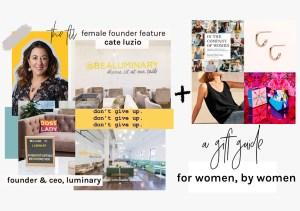 cate luzio - female founder feature the fill