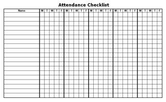 Calendar Form for Teachers
