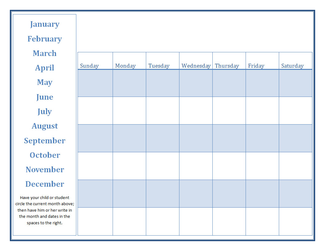 free printable calendars for teachers