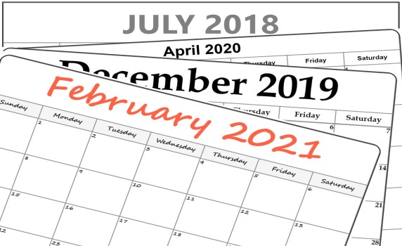Collection of templates of printable calendars, planners