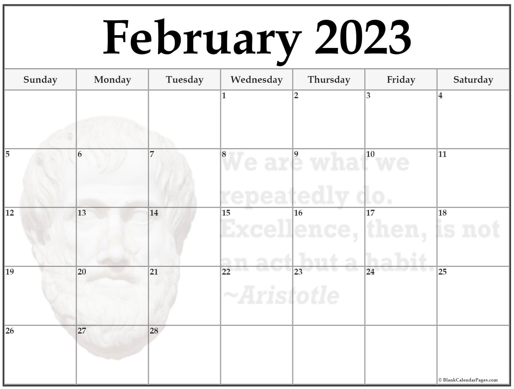 24+ February 2022 quote calendars