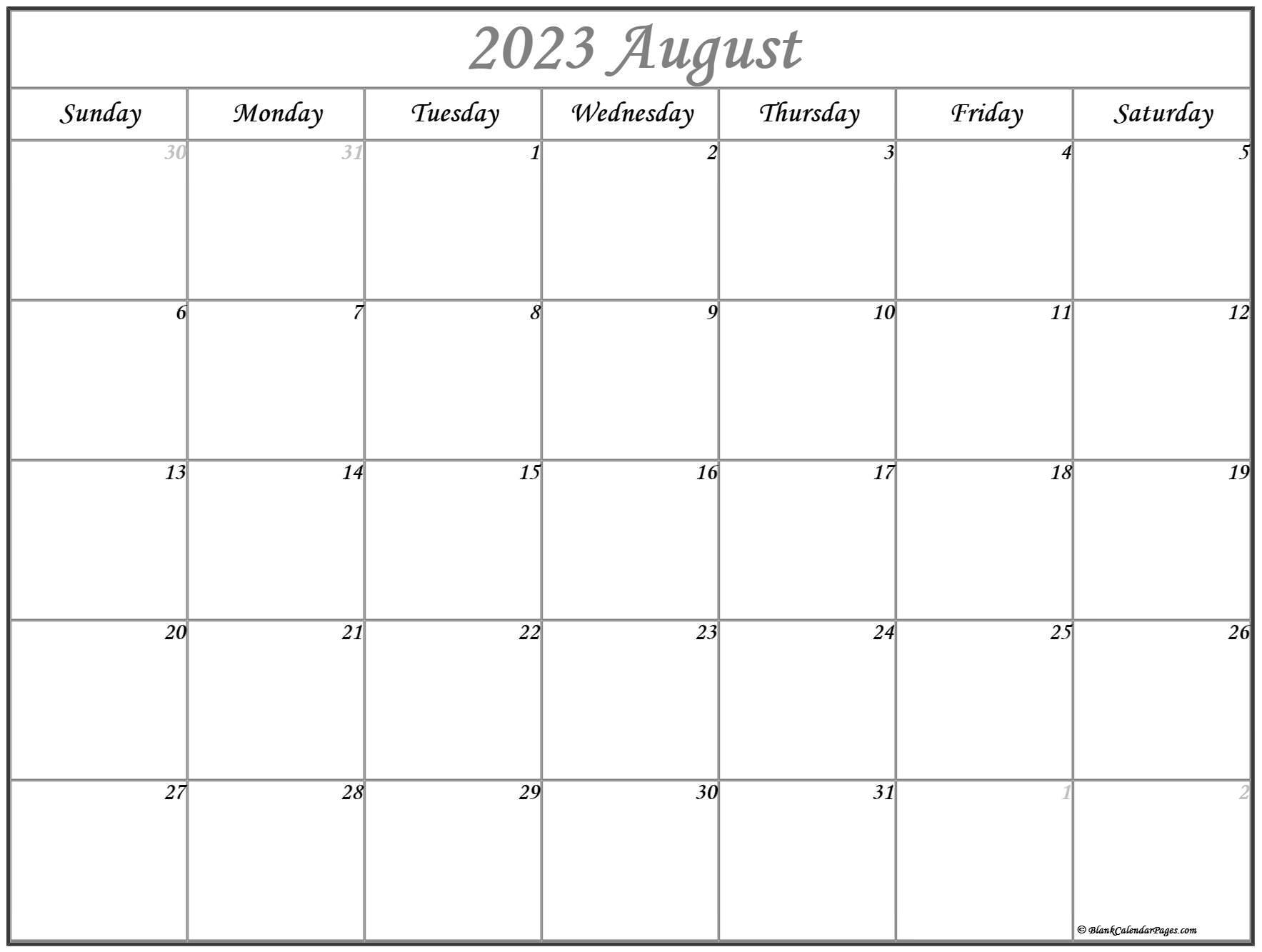 August 2022 calendar | free printable calendar