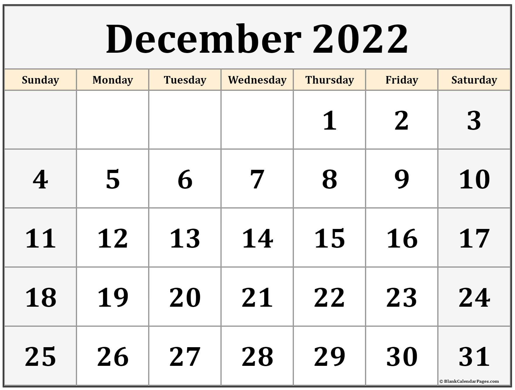 You can budget both your money and your time by making a. December 2022 calendar | free printable calendar templates