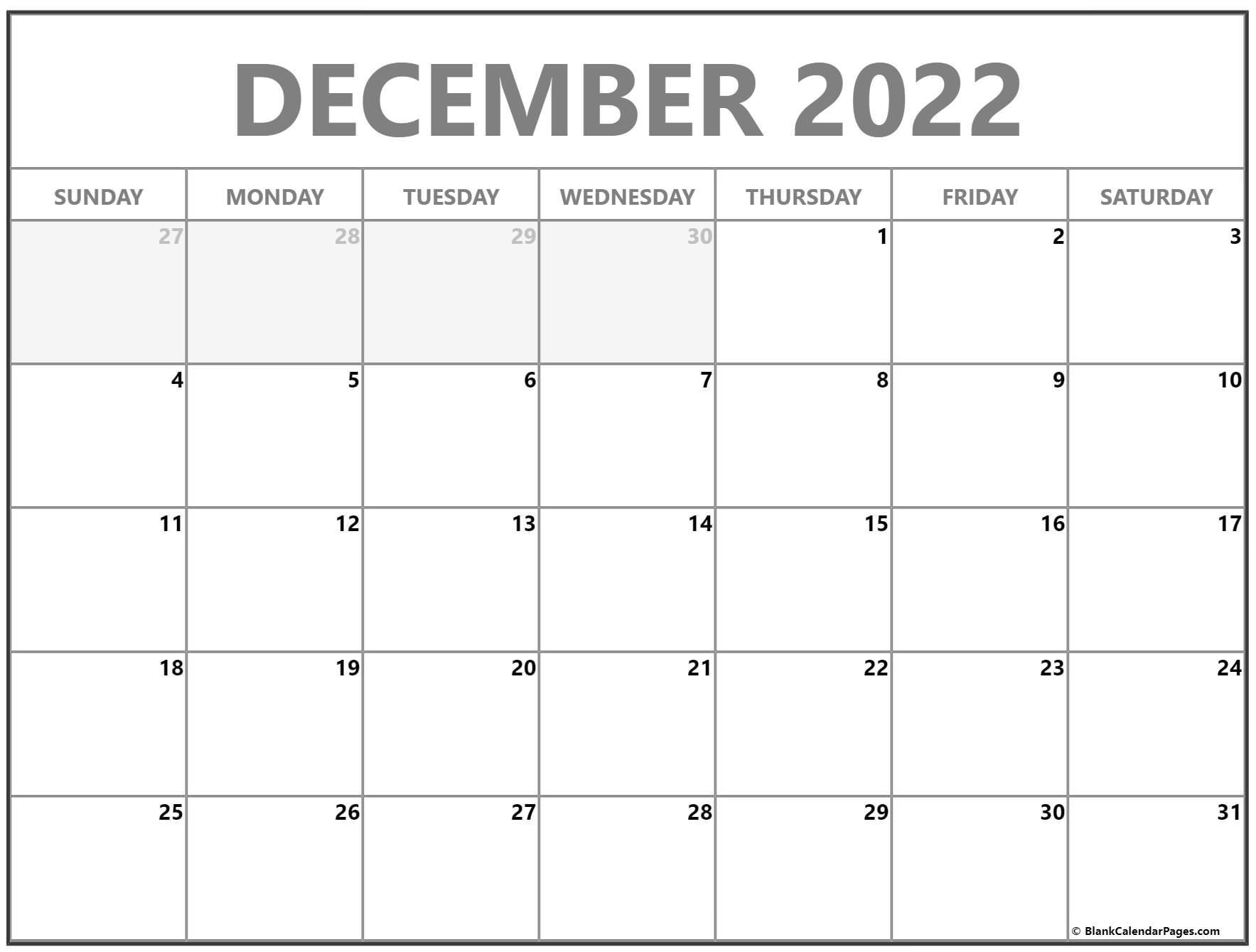 December 2022 calendar | free printable monthly calendars