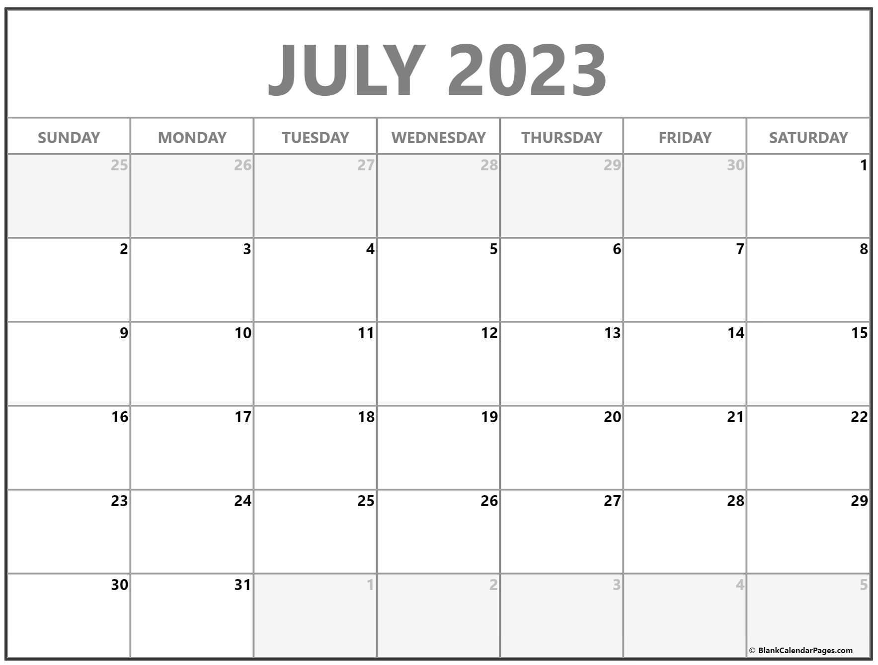 July 2022 calendar | free printable calendar templates