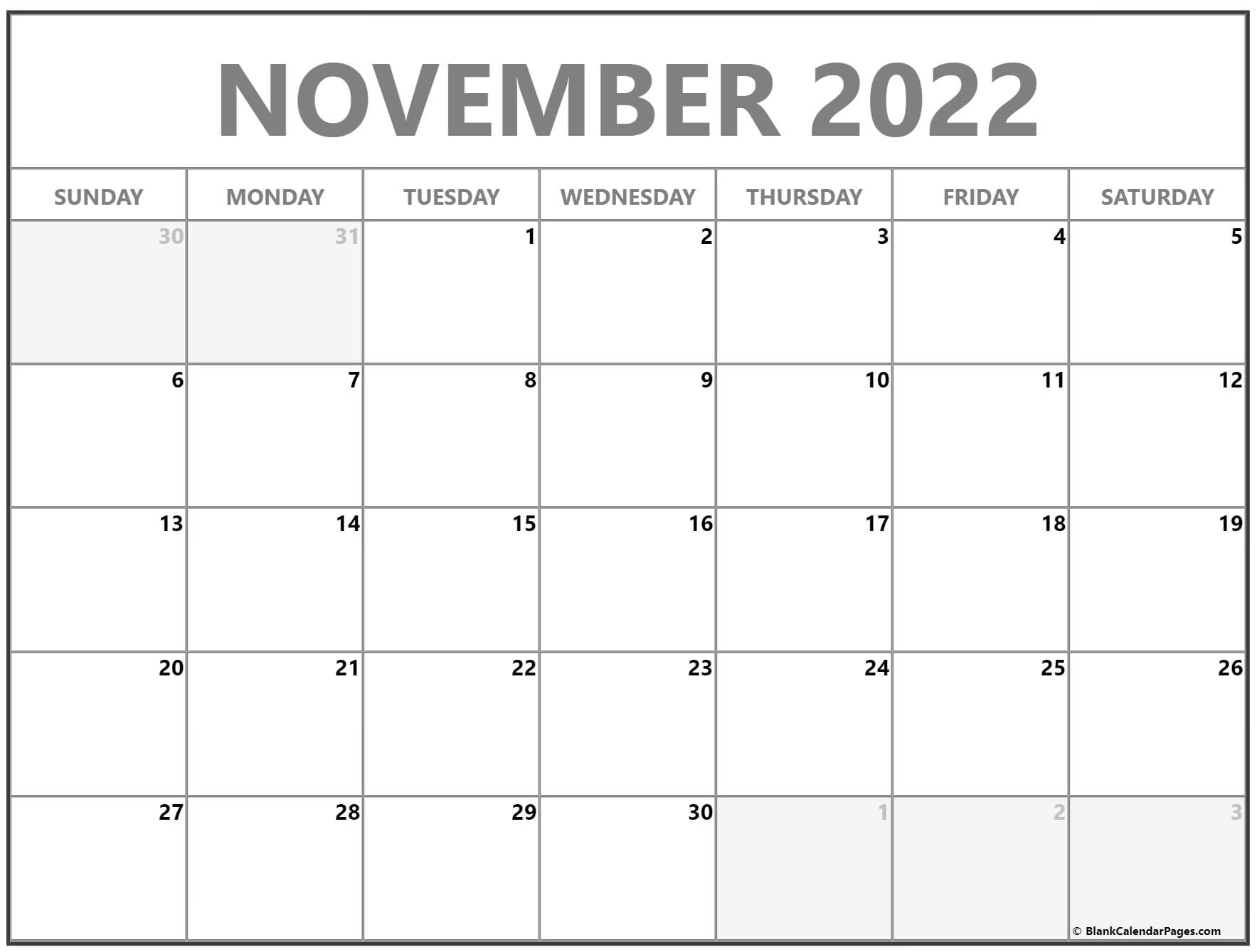 November 2022 calendar | free printable monthly calendars