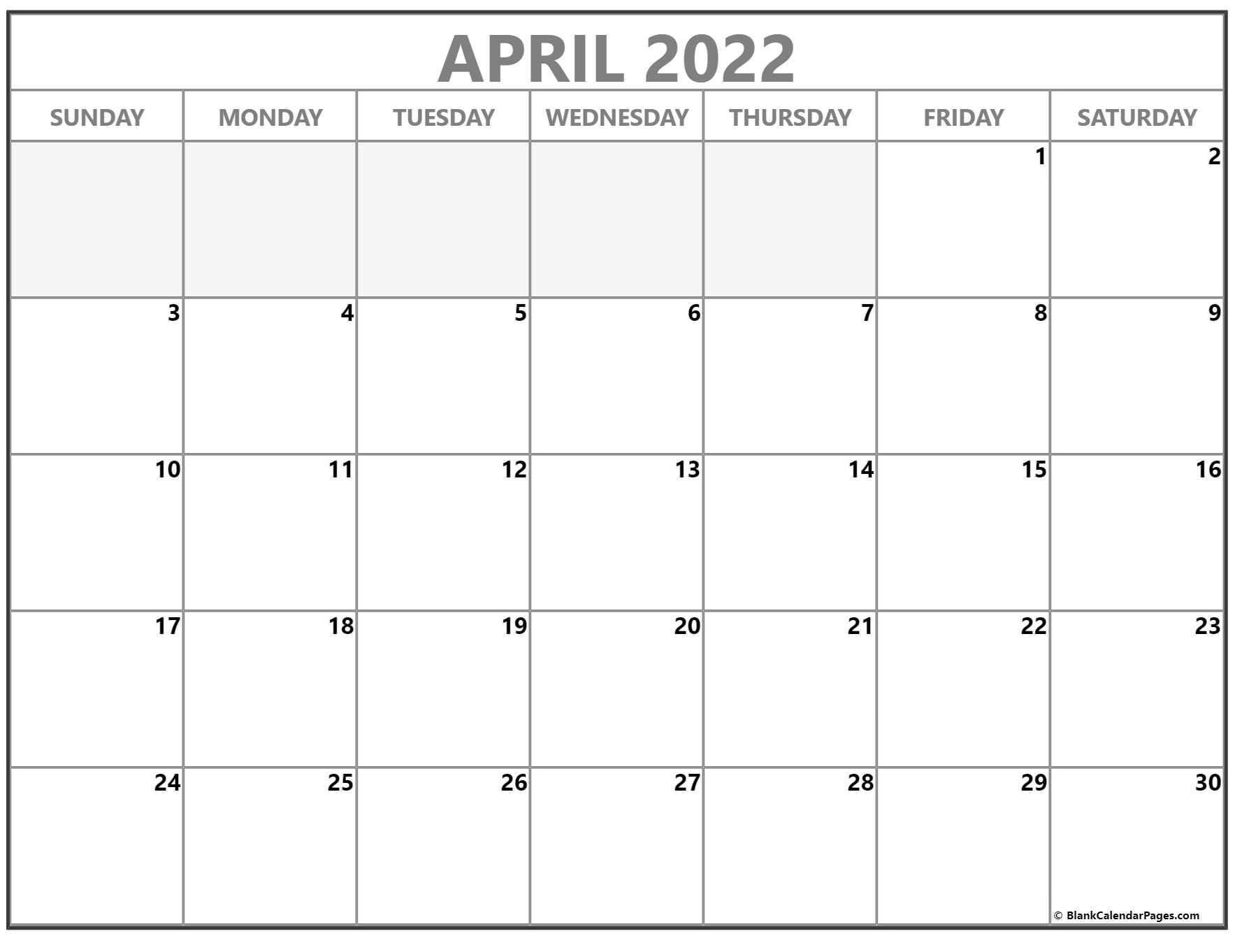 The spruce / lisa fasol these free, printable calendars for 2021 won't just keep you organized; April 2022 calendar | free printable calendar templates