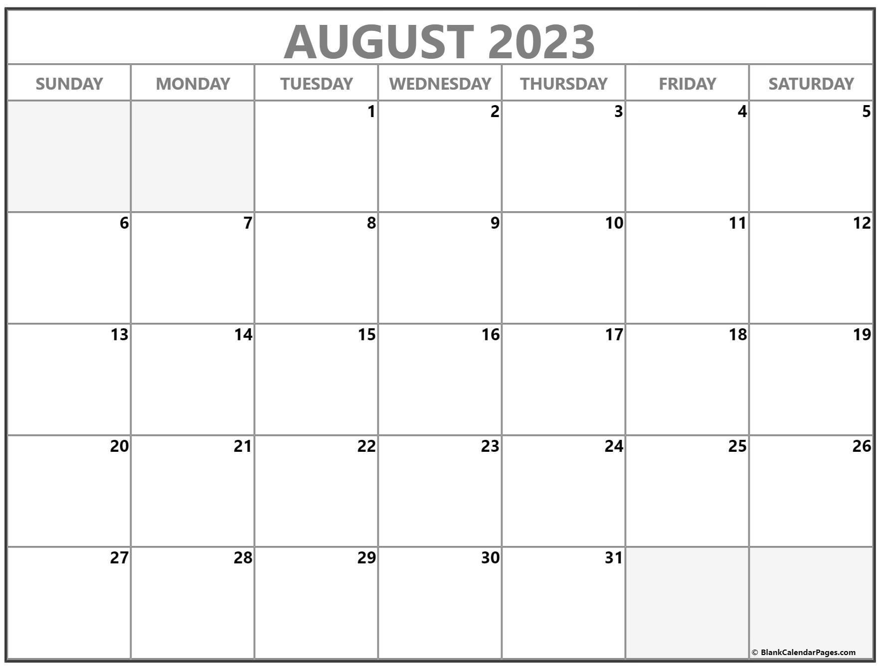 August 2022 calendar | free printable calendar templates