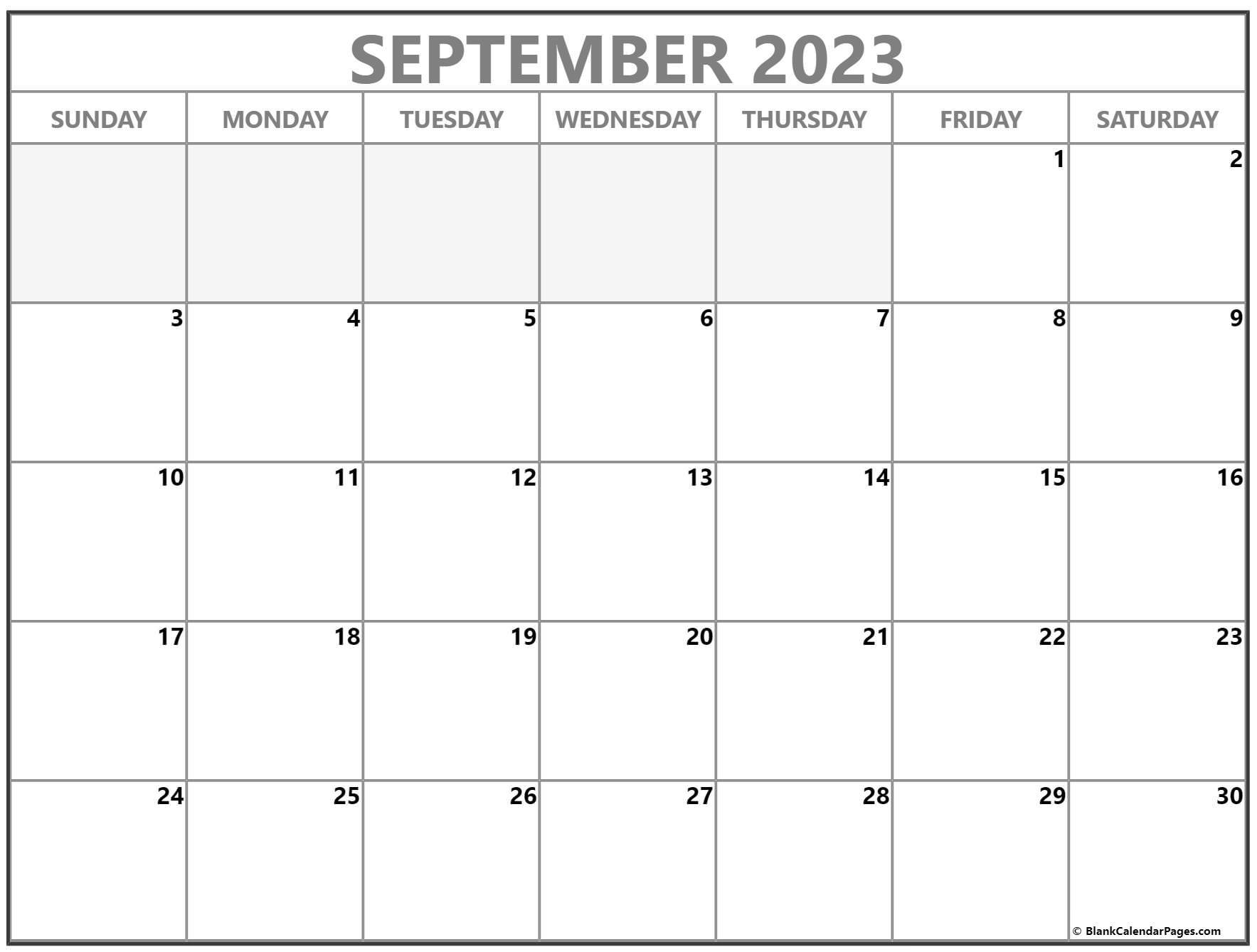 September 2022 calendar | free printable calendar templates