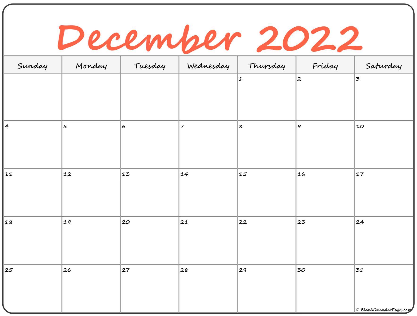 Those calendar come with us holidays and notes space below the main calendar. December 2022 calendar   free printable calendar templates