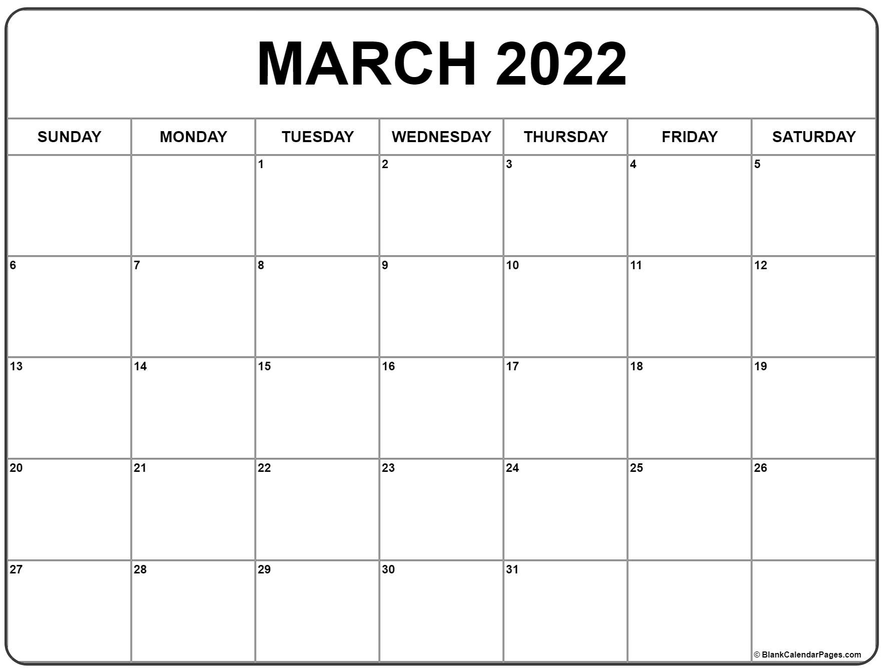 Time rules our lives, with appointments and deadlines guiding us through our days. March 2022 calendar | free printable calendar templates