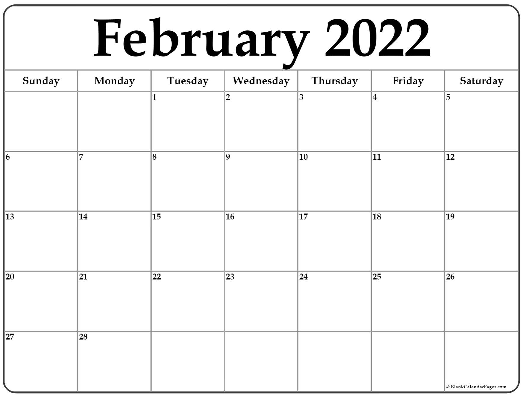 Download a free, printable calendar for 2021 to keep you organized in style. February 2022 calendar | free printable calendar templates