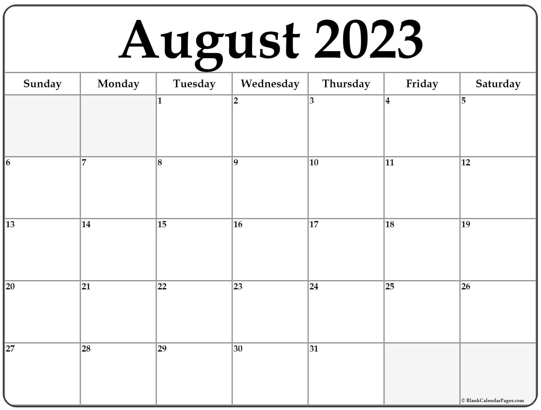 August 2022 calendar   free printable calendar templates