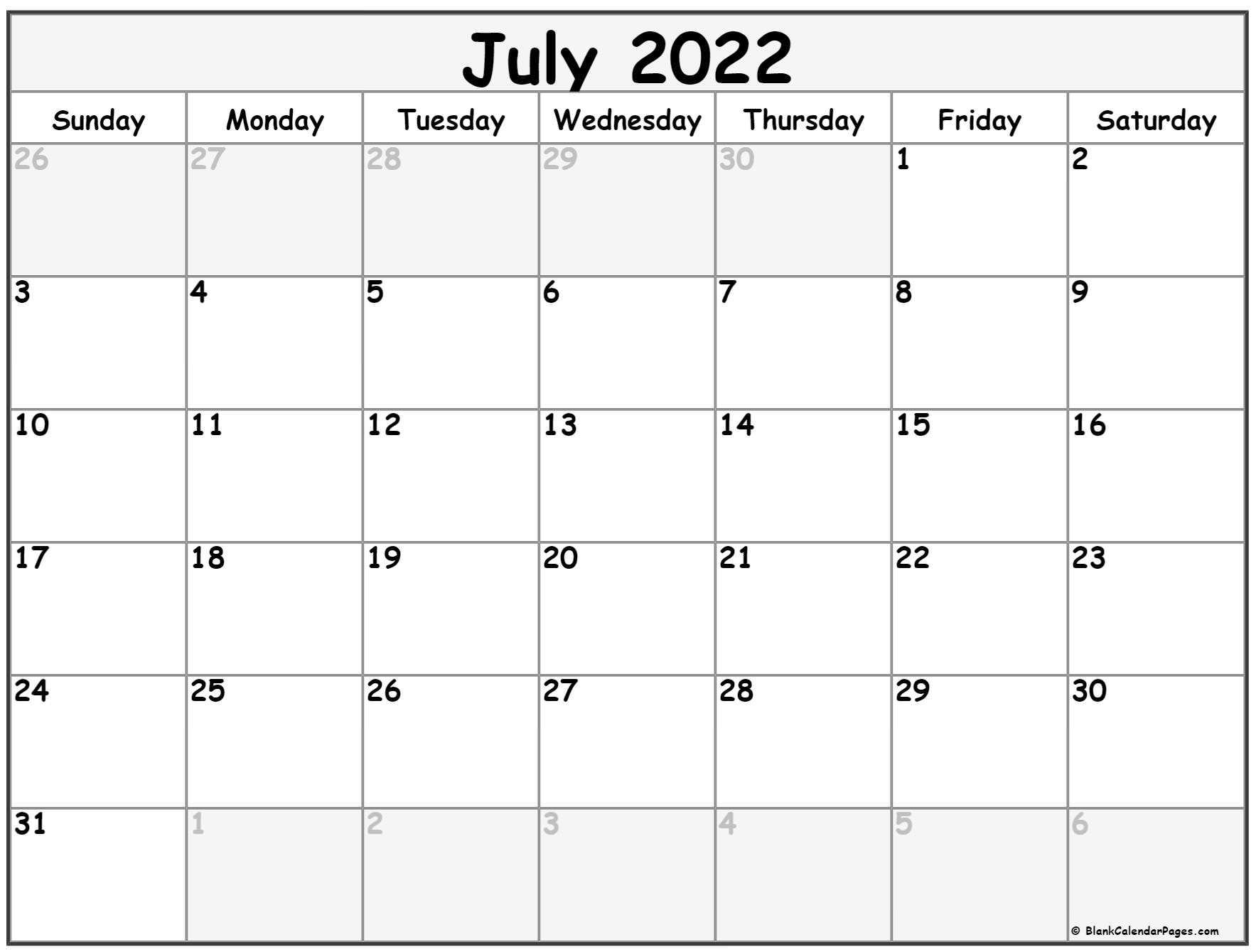 It's easy to get distracted. July 2022 calendar | free printable calendar templates