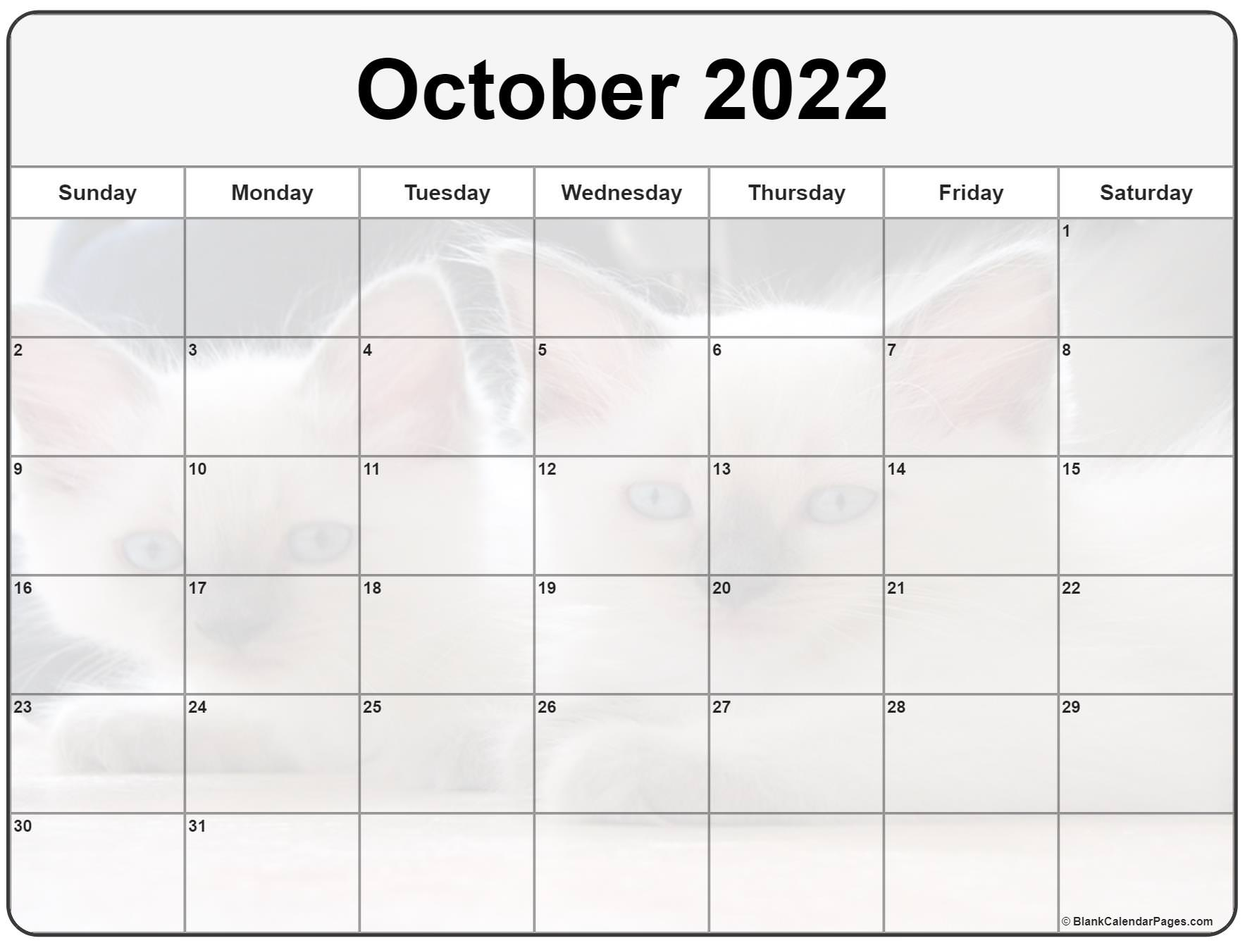 It seems like everyone is busier these days, and keeping up with everything from work deadlines to kids' sports practices to your pet's vet appointments can make things complicated — there's a lot to juggle, after all. Collection of October 2022 photo calendars with image filters.
