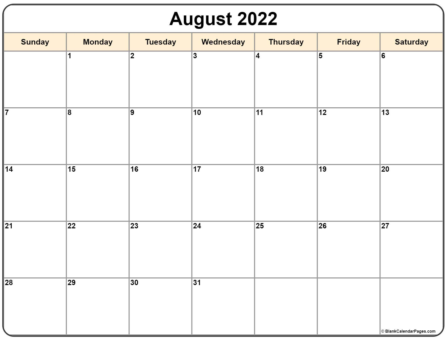 If you have any questions regarding these events, please contact us. August 2022 calendar | free printable monthly calendars