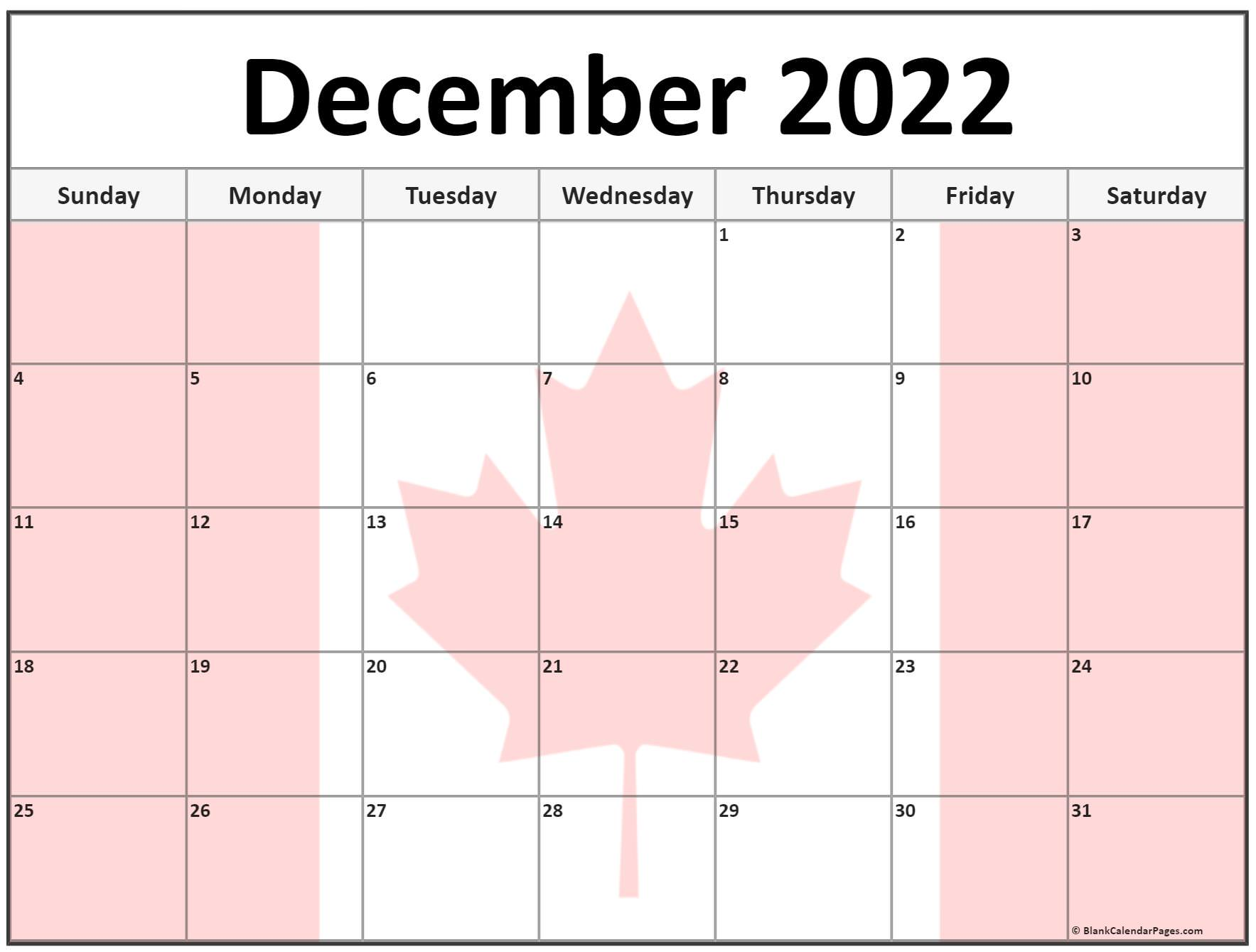 Collection of December 2022 photo calendars with image ...