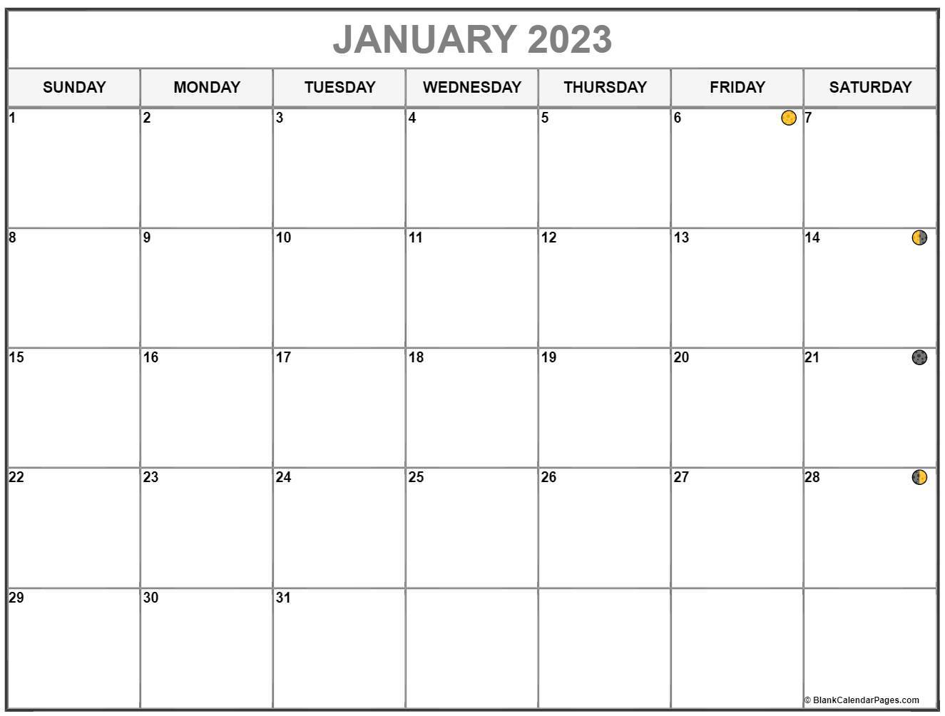 January 2022 Lunar Calendar | Moon Phase Calendar
