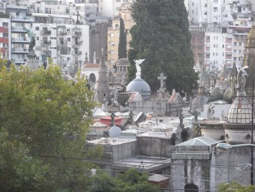 Recoleta Cemetery surrounded by the city
