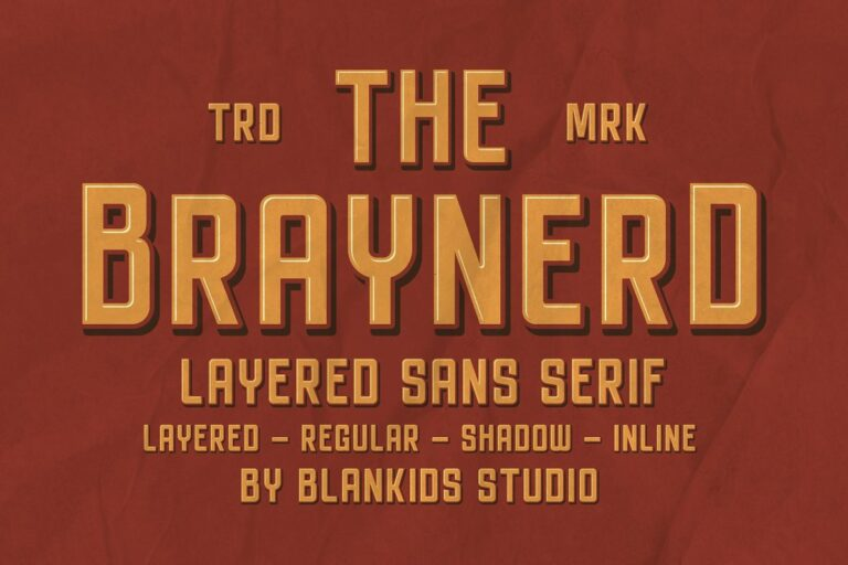 Preview image of Braynerd – Layered Sans Serif