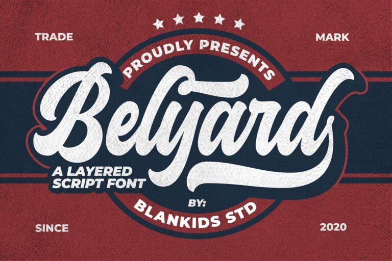 Belyard - Layered Script Font