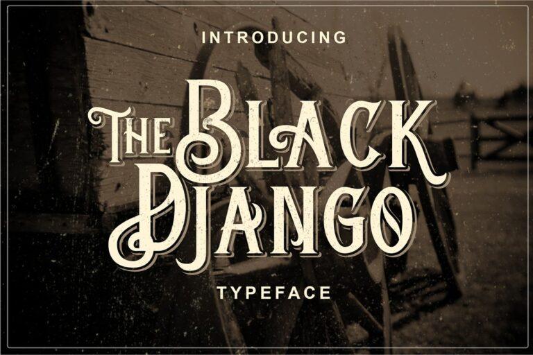 Black Django - Vintage Serif Font
