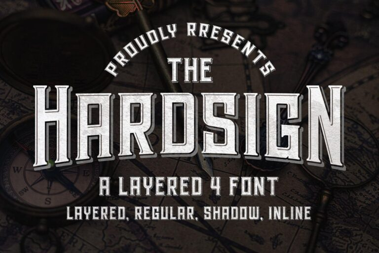 Preview image of Hardsign – Layered Font