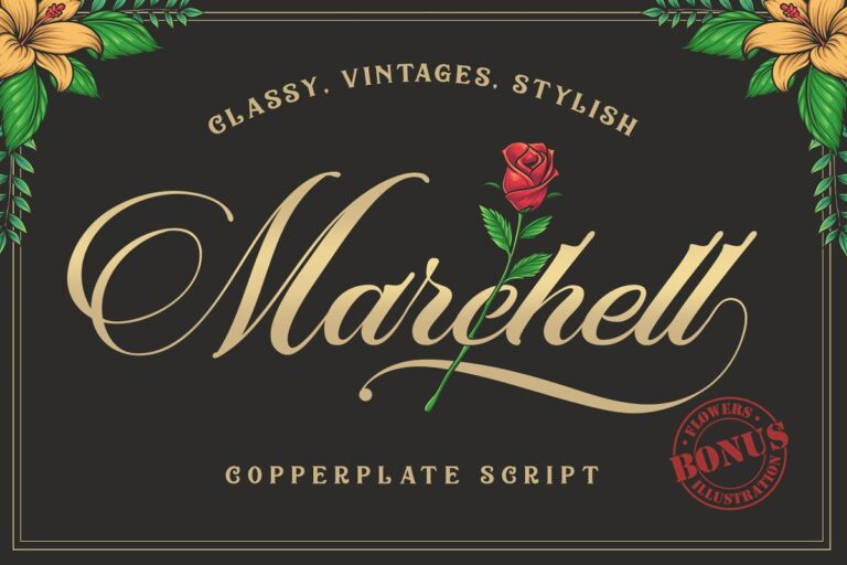 Marchell - Copperplate Script