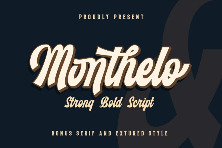 Preview image of Monthelo – Strong Bold Script