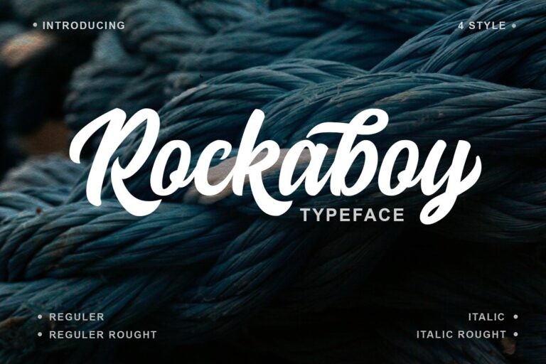 Preview image of Rockaboy Typeface