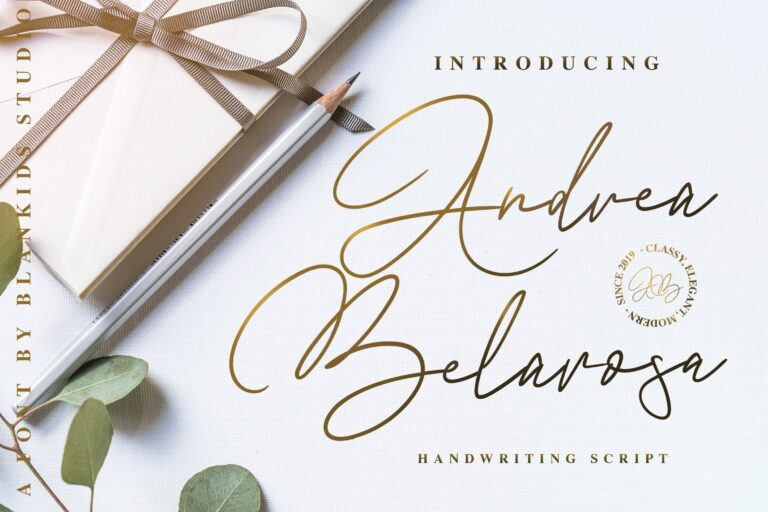 Andre Belarosa - Handwriting Script Font