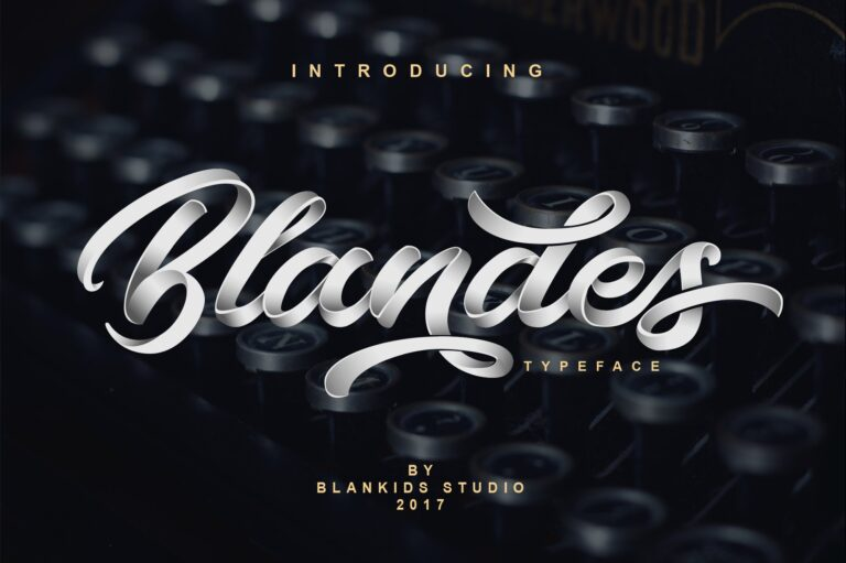 Preview image of Blandes – Trendy Script Typeface