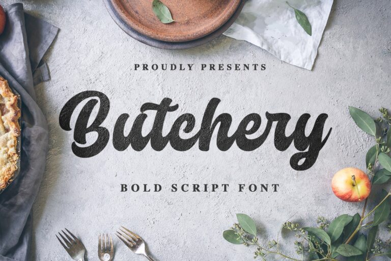Preview image of Butchery Script Font