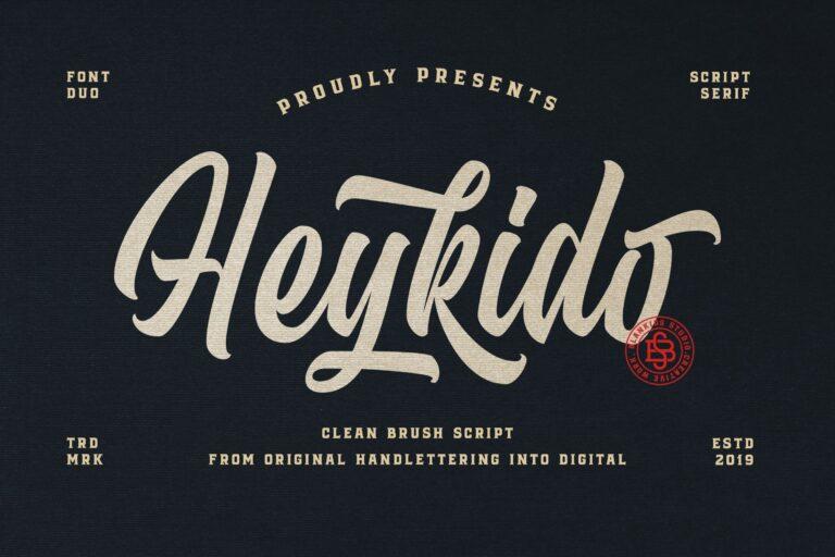 Heykido Script Font