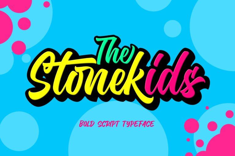 Stonekids Script Font