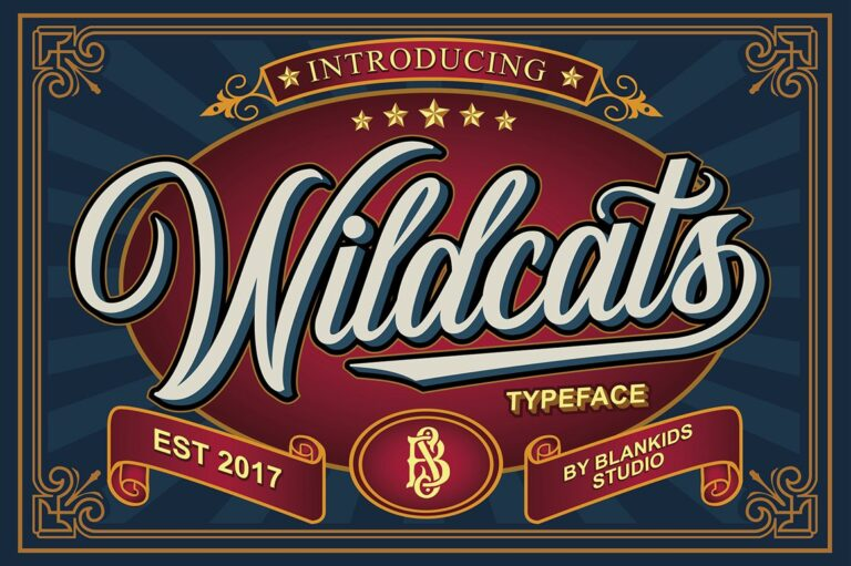 Preview image of Wildcats – Vintage Script Typeface