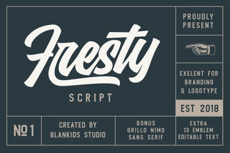 Fresty - Trendy Script Font