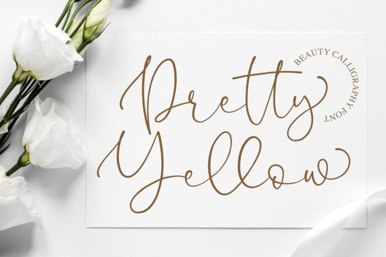 Preview image of Pretty Yellow Script